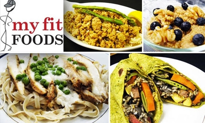 My Fit Foods - Multiple Locations: $15 for $35 Worth of Prepared Healthy Food to Take Home from My Fit Foods