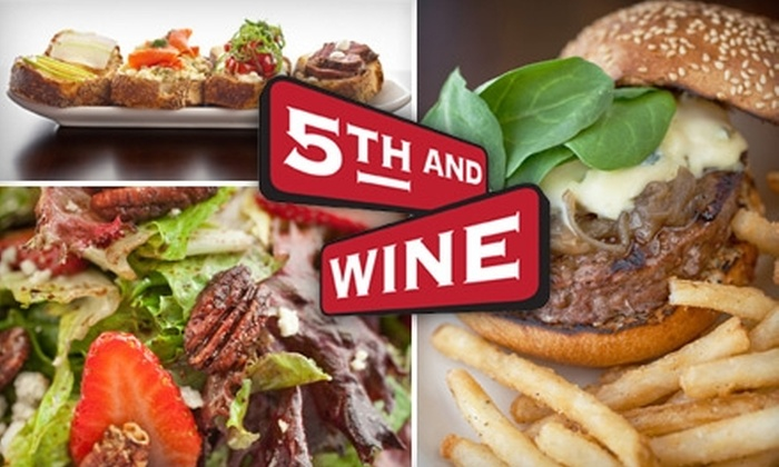 5th and Wine - Downtown Scottsdale: $15 for $30 Worth of Eclectic Fare and Drink at 5th and Wine in Scottsdale