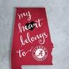 NCAA My Heart Belongs State Sign