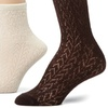Capezio New York Women's Openwork Demi Crew Socks