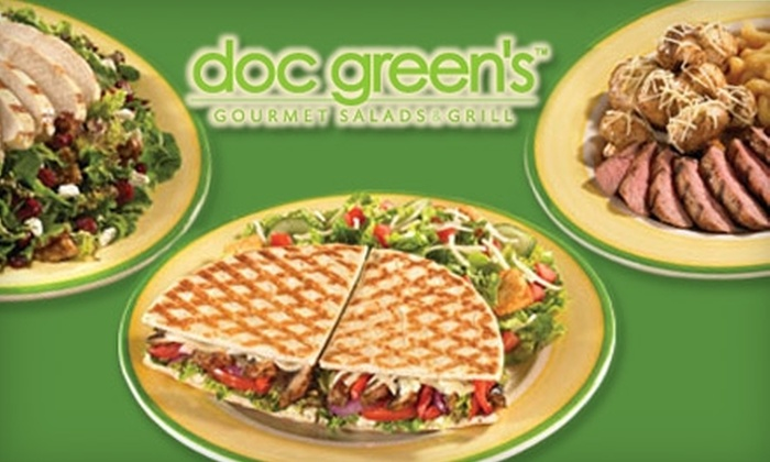 Doc Green's Gourmet Salads and Grill - Multiple Locations: $6 for $12 Worth of Fresh Wraps, Salads, Paninis, Entrees, and More at Doc Green's Gourmet Salads and Grill