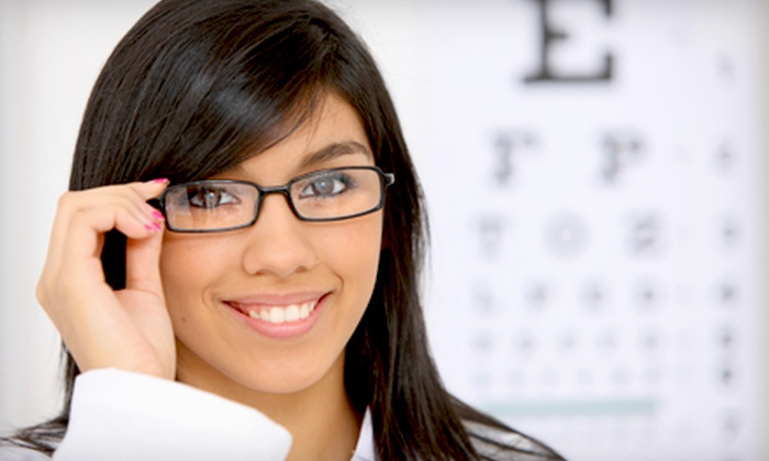 Eyeland Eyecare Center - Multiple Locations: $49 for an Eye Exam and $200 Toward Frames and Prescription Lenses at Eyeland Eyecare Center ($260 Value)