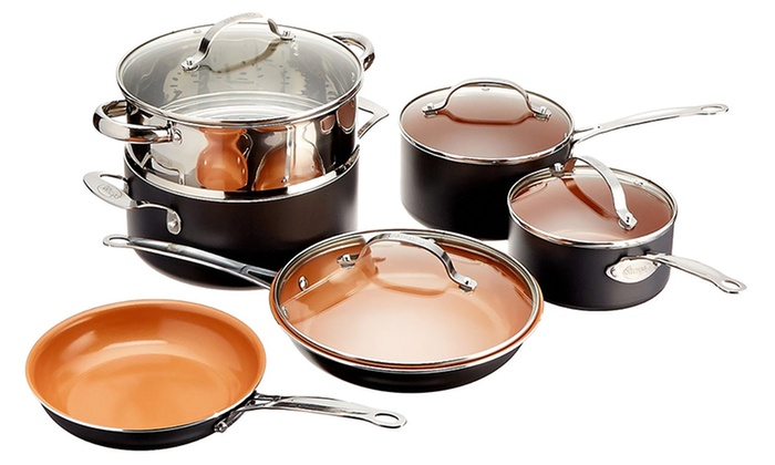 Emson Inc: Gotham Steel 10-Piece Cookware Set with Non-Stick Ti-Cerema Coating (Shipping Included)