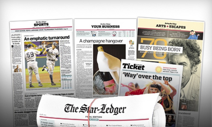 "Star-Ledger - Springfield/Belmont: $30 for 13-Week Subscription to ""Star-Ledger"" ($68 Value)"