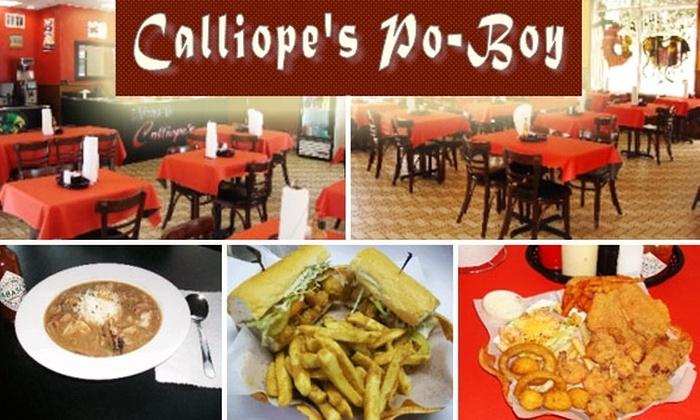 Calliope's Po-Boy - Downtown: $15 for $30 Worth of Cajun Fare at Calliope's Po-Boy