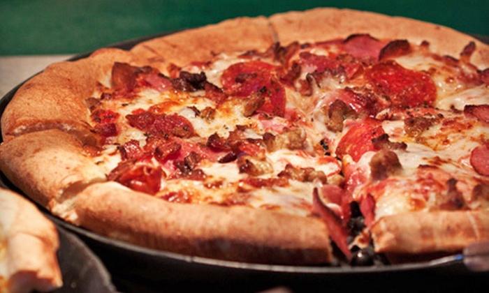 DoubleDave's Pizzaworks - Heritage Village: Pizza or Pizza Party Package at DoubleDave's Pizzaworks in Frisco (Half Off)
