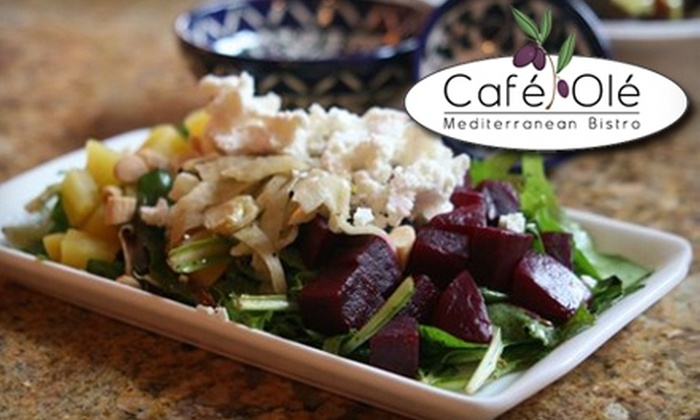 Café Olé  - Cathedral - Wesley Heights - McLean Gardens: $10 for $20 Worth of Mediterranean Fare & Drinks at Café Olé