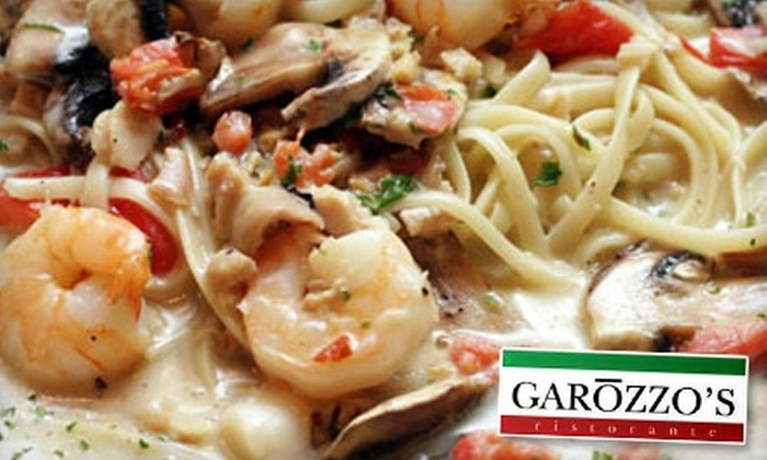 Garozzo's Ristorante - Multiple Locations: $15 for $30 Worth of Italian Cuisine at Garozzo's Ristorante. Choose Between Two Locations.