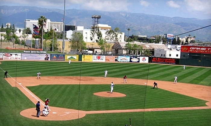 Inland Empire 66ers - Downtown San Bernardino: $40 for Four Executive Box-Seat Tickets, Program, PA/Video Board Welcome, Two Fun Zone Passes, and Free Parking at an Inland Empire 66ers Baseball Game in San Bernardino ($84 Value)