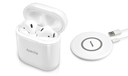 Apachie Airpod Wireless Charging Case with Optional Wireless Charger
