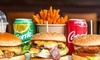 Burger, Fries and Soft Drink