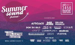 """Arenart: 1pass """"Summer Sound Festival"""" 1, 3 ou 4 jours avec camping, VIP ou non, du 3 au 6 août 2017 dès 34 € à Rochefort"""