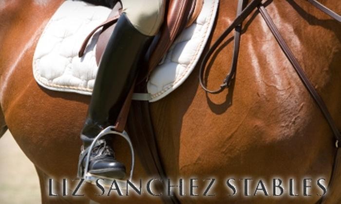 Liz Sanchez Stables - Los Poblanos Estates: $32 for 30-Minute Private Horseback Riding Lesson at Liz Sanchez Stables ($65 Value)