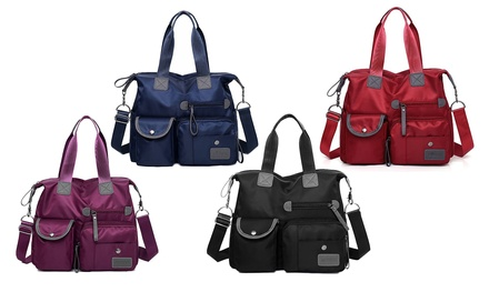 1 o 2 borse in nylon impermeabile e di grande capacità disponibile in 4 colori