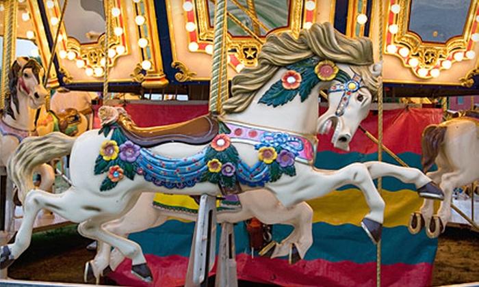Balboa Fun Zone - Newport Beach: $20 for a 20-Ride Ferris Wheel and Carousel Punch Card at Balboa Fun Zone ($40 Value)