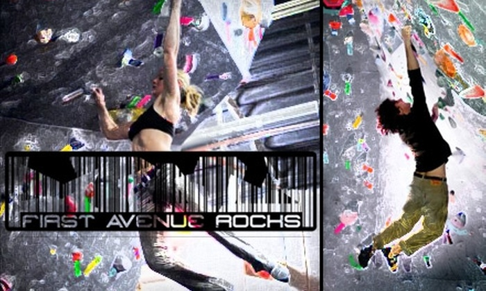 First Avenue Rocks - Southside: $9 for a Day of Climbing Plus Shoe Rental at First Avenue Rocks