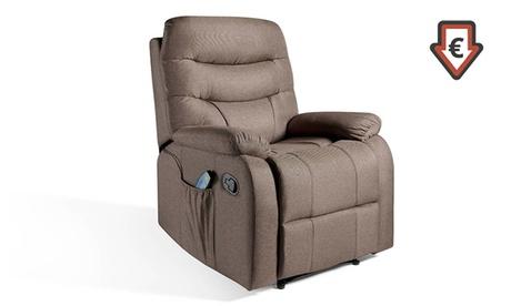 Sillón de masaje ECO-8500 con mando de control y 2 niveles de intensidad