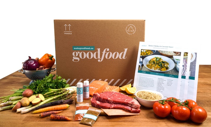 Goodfood: 3- or 4-Meal Ingredient Box for Two or Four, Delivered to Your Home by Goodfood (Up to 54% Off)