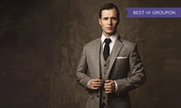 Herren-Maßkonfektionsanzug, optional mit Krawatte und Stecktuch, von HMK Masskonfektion (bis zu 51% sparen*)