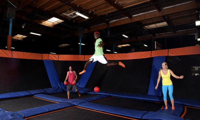 Sky Zone - Everett - Everett: Two 60-Minute Open Jumps or Admission to Saturday Night SkyJam at Sky Zone Everett (Up to 41% Off)