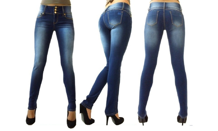 Women S Skinny Butt Lifter Jeans In Junior Sizes Size 15 Groupon