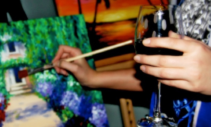 Kennett Design with a Splash of Wine - Multiple Locations: $25 for a Two-Hour Painting Class on February 27–April 28 from Kennett Design with a Splash of Wine ($39 Value).