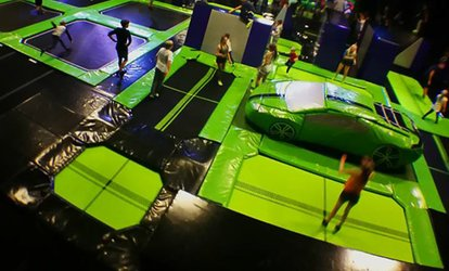 image for One-Hour Jump Session for One, Two or Four at Flip Out Portsmouth (Up to 25% Off)