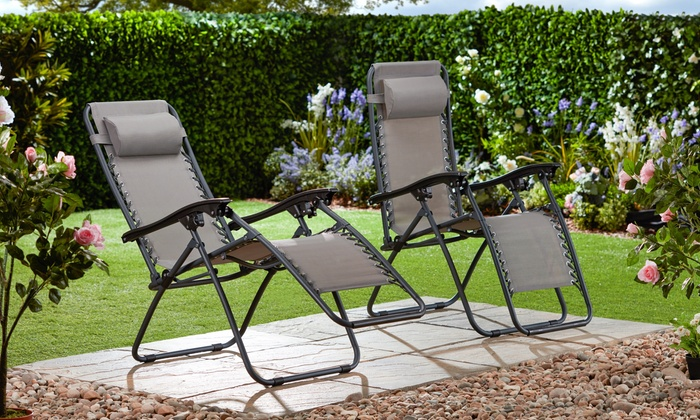 One or Two Garden Gear Zero Gravity Reclining Garden Chairs