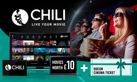 £10 Towards the Newest Movies from CHILI plus a Cinema Ticket at ODEON Cinemas