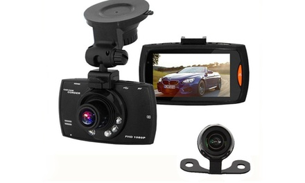 Apachie G30 Full HD Dual Front and Rear Dash Cam with Optional 16GB Memory Card