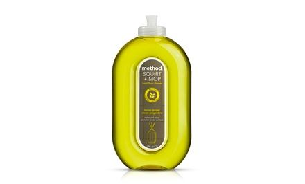 Method Lemon Ginger Squirt and Mop Hard Floor Cleaner; 6-Pack of 25 fl. oz. Bottles + 5% Back in Groupon Bucks