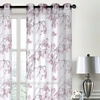 Floral Printed Sheer Window Panel Pair