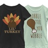 Women's Junior Cotton or Cotton-Blend Thanksgiving-Inspired Print Tees
