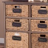 Storage Cabinets with Natural Wicker Baskets