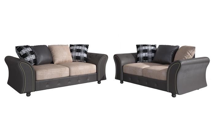 Oakland Sofa Set Groupon