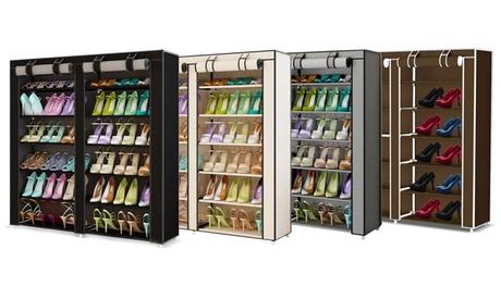Scarpiera armadio con 7 ripiani disponibile in 3 modelli e 3 colori
