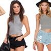 Women's Distressed Denim Shorts in Juniors Sizes (3-Pack)