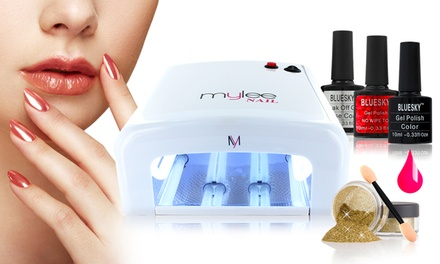Bluesky Mylee UV Rose Gold Mirrored Nail Kit