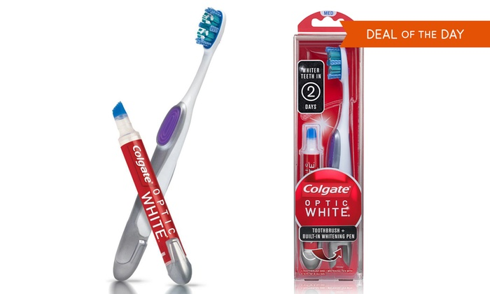 Colgate Whitening Toothbrush Pen Groupon Goods