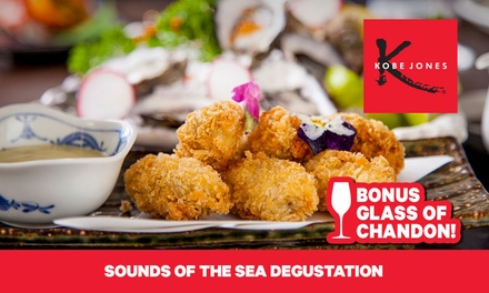 Seafood Degustation + Glass of Chandon for One ($69), Two ($136) or Four People ($272) at Kobe Jones (Up to $676 Value)