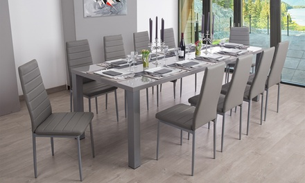 Table extensible avec chaises groupon shopping for Table extensible 3m groupon
