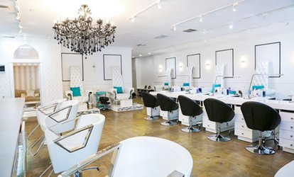 image for One or Five Gel Manicures or Signature Gel Manicures at <strong>Nail</strong> Bar & Beauty Lounge (Up to 36% Off)