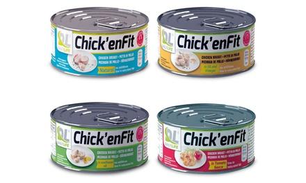 Scatolette di pollo proteico