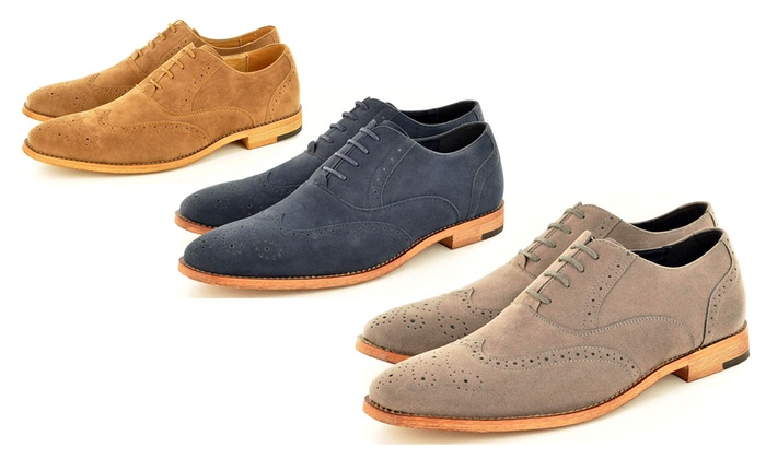 Mens Brown Suede Shoes Groupon