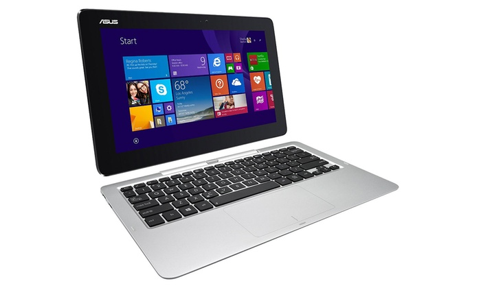 ASUS Transformer Book 11.6'' 2-in-1 Touchscreen Laptop with Intel Processor and 32GB SSD (Refurbishe...