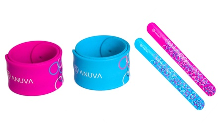 Two, Four or Six MicroEncapsulated MosquitoRepellent Silicone Wristbands