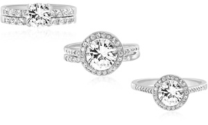 Lesa Michele Engagement Rings Made with Swarovski Crystals