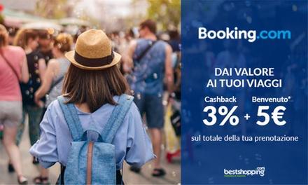Fino a 5 €+3 % di cashback su booking.com con Bestshopping a 0€euro