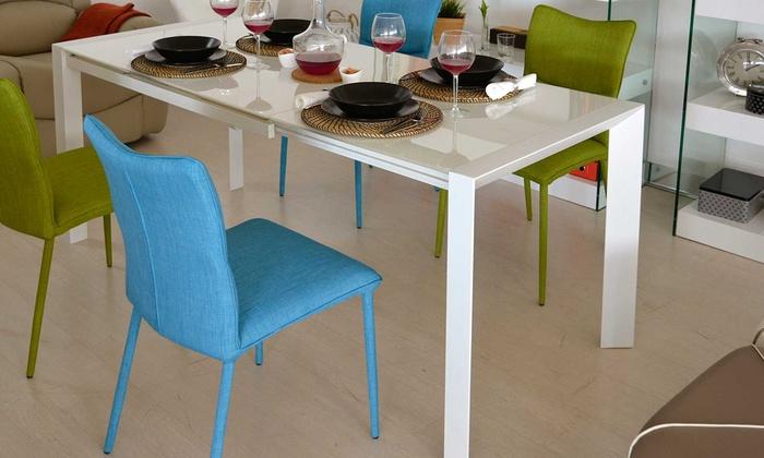 Tavolo in vetro allungabile holiday groupon goods for Groupon shopping arredamento