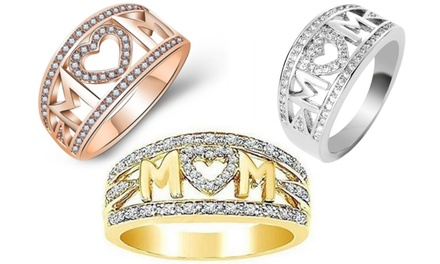 Crystal Mum Ring